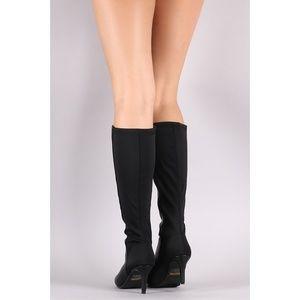 b17d8db3409 SARAH SIAH Shoes - Last Size 9    🍂🖤Toe Kitten Heeled Knee
